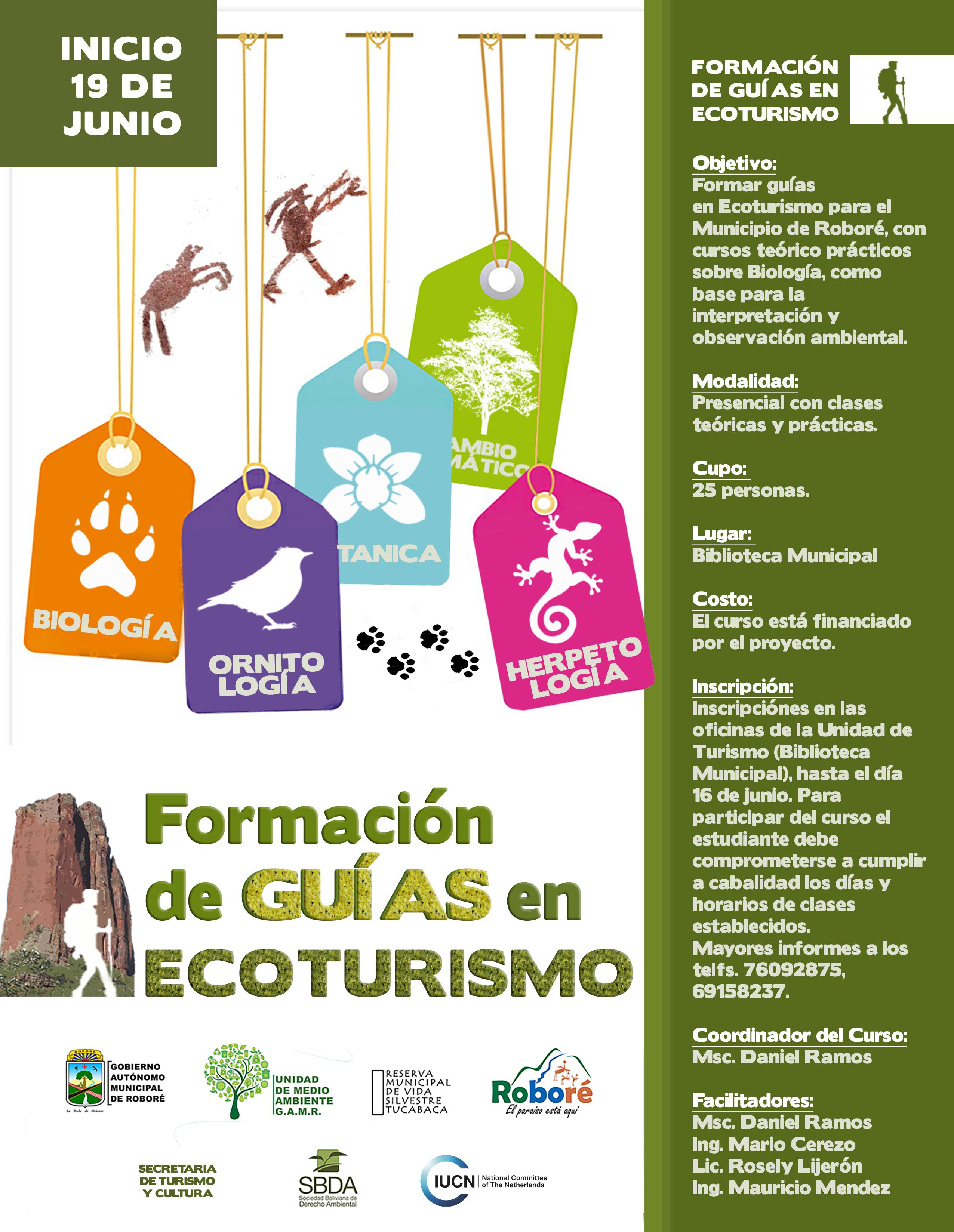 Guía en Ecoturismo